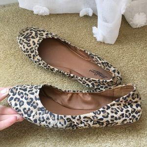 Lucky Brand Cheetah Print Ballet Flats